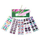 Pueen PUEEN 3D Designer Nail Wraps Collection COLORFUL LIFE - 5 Pack (18 Strips Each) Nail Wraps / Nail Strips / Nail Foils / Nail Stickers / Nail Decals / Nail Patches in New High Fashion Designs-BH000484