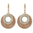Target Glitter Tape Circle Dangle Earrings - Pink/Gold