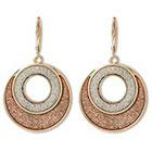Target Glitter Tape Circle Dangle Earrings - Pink/Gold