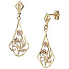 Target Gold Over Silver Drop Earrings - Pink/Yellow