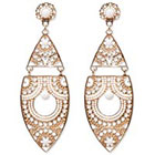Natasha Accessories Imitation Gold Statement Earring Beads - White (4