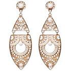 Natasha Accessories Imitation Gold Statement Earring Beads - White (4