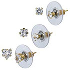 Target 14K Gold Multi Design Stud Earrings Set - Clear