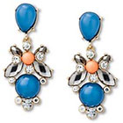 Target Post Top Stone Cluster Statement Earring - Multicolor