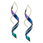 Journee Collection Gold-filled Niobium Spiral Earrings - Violet