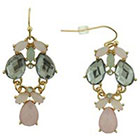Target Dangling Earrings with Metal and Stone - Pink/Gold/Teal