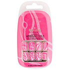 Bella Nails Bella Nails Bella Press-on Nails in Floral and Jewel in Neon Pink/Swirl Pattern