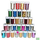 Amazon Newest Fashion 25 colors Nail Art Transfer Foil Nail Sticker Tip Decoration from Y2B