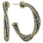 Target Half Hoop Earrings with Twist Rope - Gold