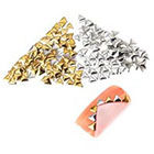 Amazon Premium Quality Set of 250 5mm Gold And Silver Triangle Metal Studs Manicure Nail Art Decorations By VAGA