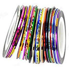 Amazon 30Pcs Mixed Colors Rolls Striping Tape Line Nail Art Tips Decoration Sticker from Y2B