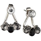 lonna & lilly Silver-Tone Glass Stone Ear Jackets