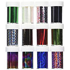 350Buy 12 styles GLITZY TRANSFER NAIL ART FOIL in