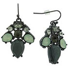 Target Dangle Earrings with Stones - Grey/Mint