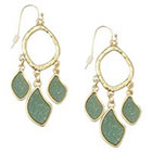 Target Zirconite Chandlier Druzy Earring - Green