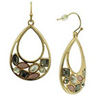 Target Openwork Statement Teardrop Earrings with Stones - Multicolor