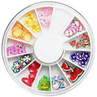 Amazon 12 type 120PC fruit slice nail art DIY decoration