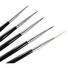 Amazon Winstonia 5 pcs Professional Nail Art Set Liner + Striping Brushes for Short Strokes, Details, Blending, Elongated Lines etc