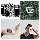 Tattify Vintage Camera - temporary tattoo (Set of 2)