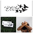 Tattify Black Birds - temporary tattoo (Set of 2)