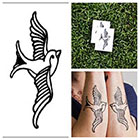 Tattify Swallow - temporary tattoo (Set of 2) in