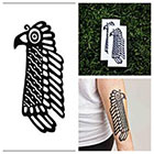 Tattify Aztec Bird- temporary tattoo (Set of 2)