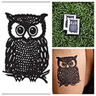 Tattify Owl - temporary tattoo (Set of 2)