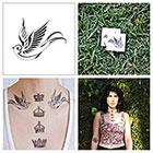 Tattify Swallow - temporary tattoo (Set of 2)