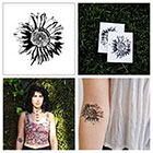 Tattify Sunflower - temporary tattoo (Set of 2)