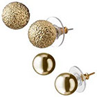 Target Round Textured Stud Earrings - Gold