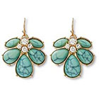 Target Post-top Statement Cluster Earrings - Green/Gold