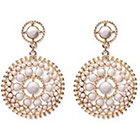 Natasha Accessories Imitation Gold Fashion Earring Stones - White (3
