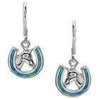 Target 3 1/8 CT. T.W. Tressa Collection Sterling Silver Fancy Cut Opal Inlay Set Dangle Earrings - Silver