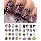 Amazon Sugar Skull Nail Decals Assortment #1 Water Slide Nail Art Decals- Salon Quality 5.5