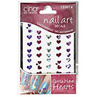 Cina Nail Creations Nail Art Jewelry Decals Ice Sparkles Rhinestones in Multi Hearts