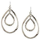 Target Drop Earrings - Silver