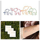 Tattify Elephants - temporary tattoo (Set of 2)