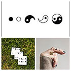 Tattify Yin Yang - temporary tattoo (Set of 4)