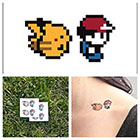 Tattify Ash & Pikachu - temporary tattoo (Set of 2)