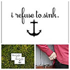 Tattify Anchor - temporary tattoo (Set of 2)