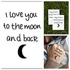 Tattify Moon Love - temporary tattoo (Set of 2)
