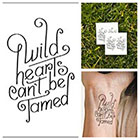 Tattify Wild Hearts - temporary tattoo (Set of 2)