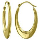 Target Oval Flat Hoop Earring in 10K Gold