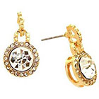 Target Crystal Doorknocker Post Back Earring - Gold/ Crystal