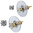 Target 14K Gold Round Stud Earrings Set - Clear