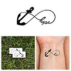 Tattify Infinity Anchor - Hope - Temporary Tattoo (Set of 2)