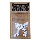 de Krantenkapper Bow Temporary Tattoo