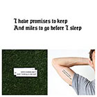 Tattify Promises To Keep - Temporary Tattoo Quote (Set of 2)