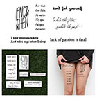 Tattify Quotes Set - Temporary Tattoo Quote (Set of 6)