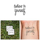 Tattify Believe in Yourself - Temporary Tattoos (Set of 2)
